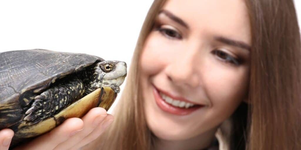 pet turtle owner and turtle